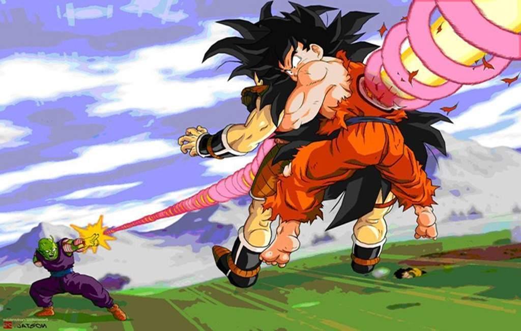 Goku et Raditz